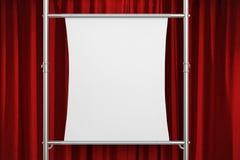 Witte canvasrek op metaalpijp Stock Afbeeldingen