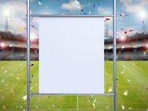Witte canvasrek op metaalpijp Royalty-vrije Stock Foto