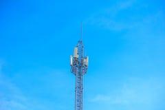 Witte Cellulaire Toren Stock Foto's