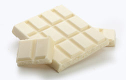Witte chocolade Stock Foto