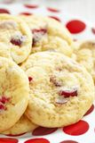 Witte Chocolade Chip Cranberry Cookies stock fotografie
