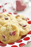 Witte Chocolade Chip Cranberry Cookies royalty-vrije stock afbeelding
