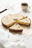 Witte Chocolade Rosemary Tart Stock Foto's