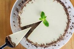 Witte chocoladecake Stock Foto's