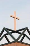 Witte Christian Cross On Green Geometric-Basis Royalty-vrije Stock Fotografie