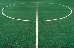 Witte cirkellijn op centrum van voetbalhoogte vector illustratie