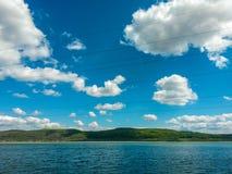 Witte cloud& x27; s Stock Foto