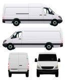 Witte Commerciële Bestelwagen Stock Foto