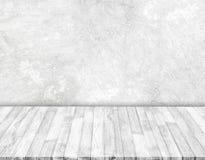 Witte concrete muren en witte houten vloeren royalty-vrije illustratie