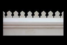 Witte concrete omheining Stock Foto's