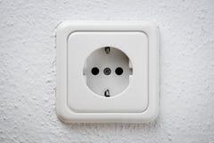 Witte contactdoos op muur Royalty-vrije Stock Afbeelding