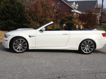 Witte convertibele auto Royalty-vrije Stock Foto
