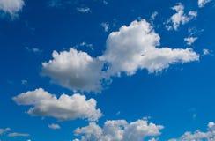 Witte cumulus stock foto