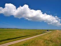 Witte cumuluswolken stock foto