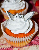 Witte cupcake Royalty-vrije Stock Afbeelding