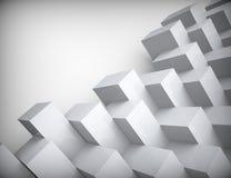 Witte 3d abstracte naadloze textuur Stock Afbeelding