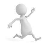 Witte 3d of mensenpersoon die lopen aanstoten Stock Fotografie