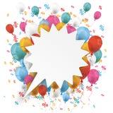 Witte de Bellenballons Percents van de Schreeuwtoespraak Stock Afbeeldingen