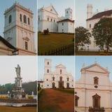 Witte de bouwkerk Stock Foto