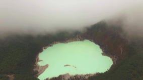 Witte de Krater Luchtmening van Kawahputih stock footage