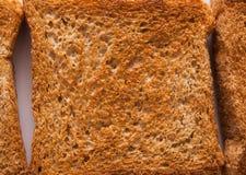 Witte de textuurachtergrond van de broodtoost Royalty-vrije Stock Foto's