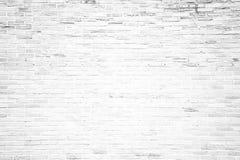 Witte de textuurachtergrond van de grungebakstenen muur Stock Afbeelding