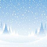 Witte de winterscène Royalty-vrije Stock Foto's