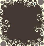 Witte decoratieve grens stock foto