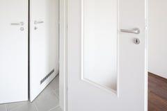 Witte deur Royalty-vrije Stock Foto