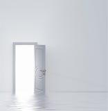 Witte deur Stock Foto