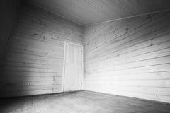 Witte deur in de hoek van lege ruimte Royalty-vrije Stock Afbeeldingen