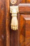 Witte die deurkloppers als een hand worden gevormd Royalty-vrije Stock Afbeelding