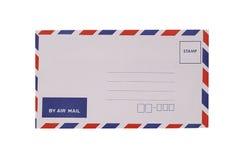 Witte die envelop op wit wordt geïsoleerd Royalty-vrije Stock Foto's