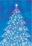 Witte die Kerstboom van sneeuwvlokken wordt gemaakt royalty-vrije stock fotografie