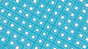 Witte die kubussen door een kader worden omringd die zich langzaam op een turkooise achtergrond bewegen 3d geef terug royalty-vrije illustratie