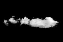 Witte die wolk op zwarte achtergrond wordt geïsoleerd royalty-vrije stock foto's