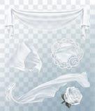 Witte doek met transparantie Stock Foto's