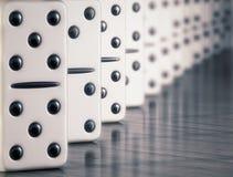 Witte domino Royalty-vrije Stock Fotografie