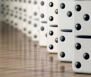 Witte domino stock foto