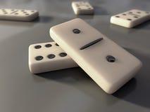 Witte domino royalty-vrije stock foto