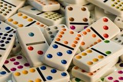 Witte domino's Royalty-vrije Stock Afbeelding
