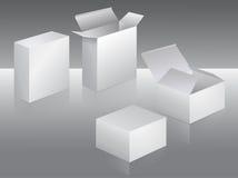Witte doos Royalty-vrije Stock Afbeeldingen
