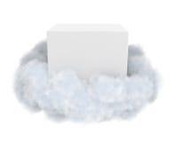 Witte doos in een wolk royalty-vrije illustratie