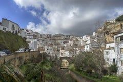 Witte dorpen van de provincie van Cadiz, Setenil de las Bodegas royalty-vrije stock afbeeldingen
