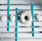 Witte doughnut Stock Foto