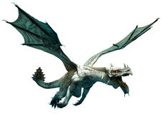 Witte draak royalty-vrije illustratie
