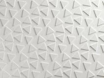 Witte driehoekige geweven abstracte achtergrond Royalty-vrije Stock Foto