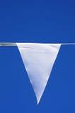 Witte driehoekige wimpel Stock Fotografie