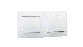 Witte dubbele lichte schakelaar Royalty-vrije Stock Fotografie