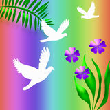 Witte duiven Stock Illustratie